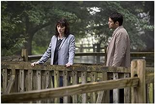 Supernatural Misha Collins as Castiel with Erica Carroll as Hannah on bridge 8 x 10 Inch Photo