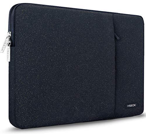 HSEOK Custodia Computer PC 15.6 Pollici Notebook Portatile Borsa Sleeve a 2 Scomparti Impermeabile, Compatibile da 15-15,6 Pollici dell Ausu Acer HP Toshiba Lenovo Surface Book,Punto Dorato