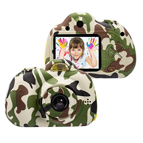 ROHSCE Kids Toys Camera for 3-6 Year Old Girls Boys, Compact Cameras for Children, Best Gift for 5-10 Year Old Boy Girl 8MP HD Video Camera Creative Gifts(16GB Memory Card Included)