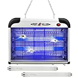 Mosquito Repellent Indoors Zapper with Replacement Bulb,Electric Bug Zapper Lamp Killer,Insect Attractant Trap for Fly,Gnat,UV Light Flying Pest Repeller Eradicator for Home Bedroom,Office
