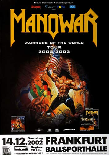 Manowar World Tour 2003 - Original Konzertposter, Konzertplakat