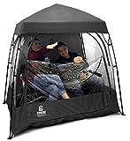 EasyGO EGP-CAP-002-BLACK CoverU Sports Shelter – 2 Person Weather Tent Pod – Patents Pending, Black