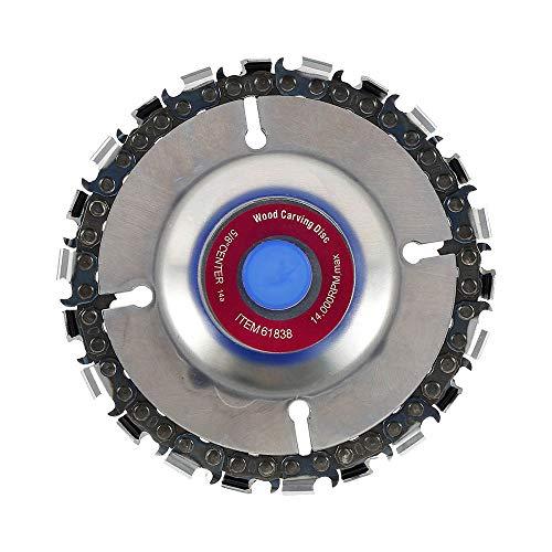 Disco de cadena para trabajar madera con disco amoladora de 4 pulgadas para pulir herramienta para la fabricación de madera (4 pulgadas, morado)