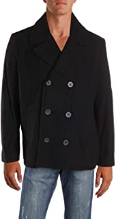 Kenneth Cole REACTION Mens Winter Wool Blend Pea Coat