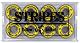 Yellow Jacket Premium Skateboard Bearings, Pro Longboard Bearings, 608, ABEC 9, (Pack of 8)