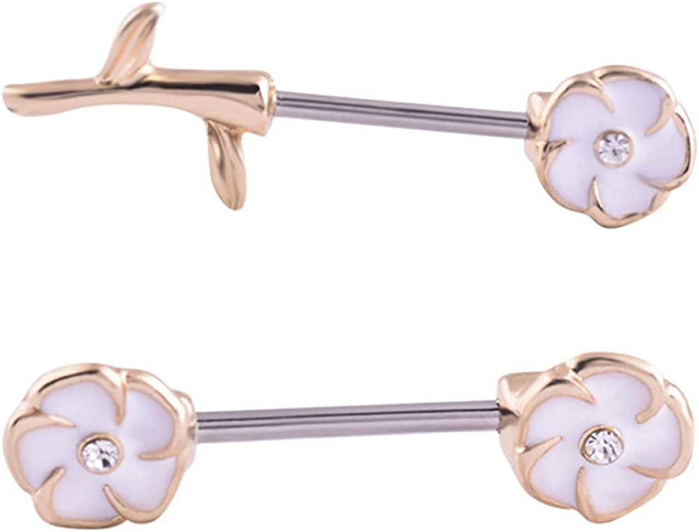 COCOCO Pierced Nipple Breast San Diego Mall Ranking TOP9 Rings Nail Pend Steel Barbell Chain