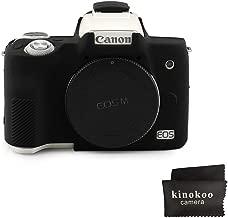 kinokoo Silicone Cover for Canon EOS M50 Camera Ptotective Rubber Case(Black)