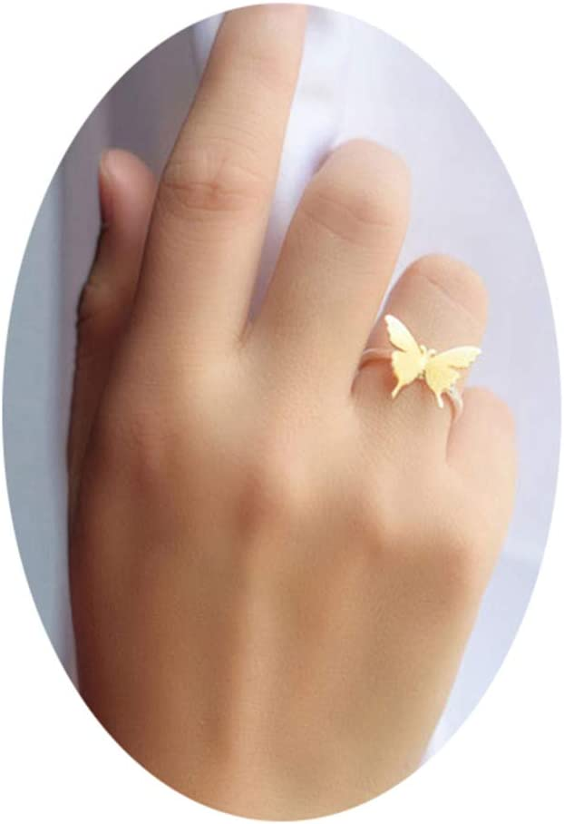 Eleusine Gold Color Butterfly Knuckle Ring Finger Toe Rings
