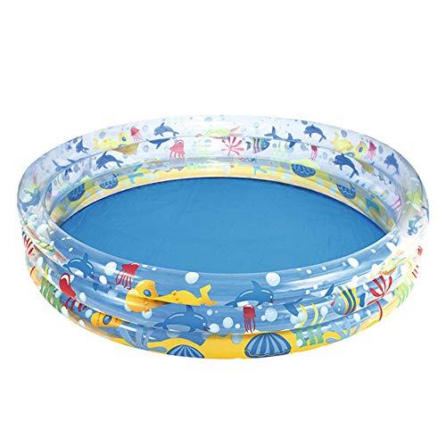 Hvoz Piscinas para niños, Piscina inflable de impresión duradera del bebé de la piscina del PVC para los niños juguetes de la tina redonda