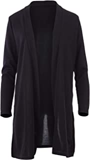 Belle Bird Womens Cardigans Belle Mid Length Knit Cardi Black - Tops