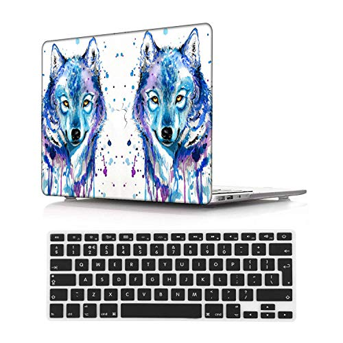 NEWCENT Newest MacBook Air 13' Case,Plastic Ultra Slim Light Hard Case UK Keyboard Cover for Newest MacBook Air 13 inch with Retina Display Touch ID 2018 2020 Release(Model:A1932/A2179),Animal A 51