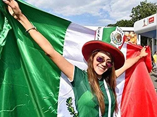 Bandera Mexico Mexican National Flag Double Stitched 3x5 Thicker High-Quality Polyester