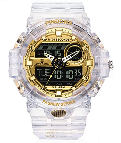 Relojes Hombre Relojes Digital Hombre Analógico Digital Relojes Deportivo Reloj Adolescent con Impermeable Luz 3 Grupos de Alarma Cuenta Regresiva Dual-Time Cronógrafo Timer Multifuncional Rel