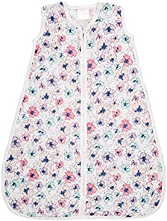 Aden and Anais Trail Blooms Flora Classic 1 TOG Sleeping Bag, Pink, Large