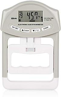 デジタル握力計 握力測定 握力強化用 記録更新機能付き ハンドグリップメーター 19人登録 男女兼用 0〜90kg