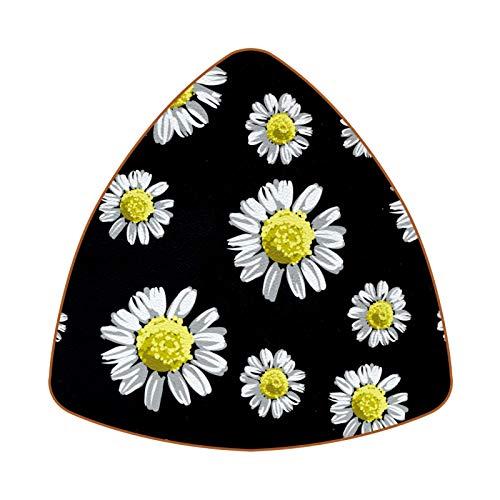 Bennigiry Posavasos con patrón de flores de manzanilla, resistentes al calor, para taza de té y café, juego de 6