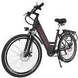 cooshional Bicicleta de Montaña Eléctrica Plegable con Pantalla del Manillar