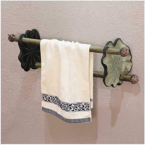 MMWYC Estante de baño organizador de ducha, toallero multifunción retro (color: verde)
