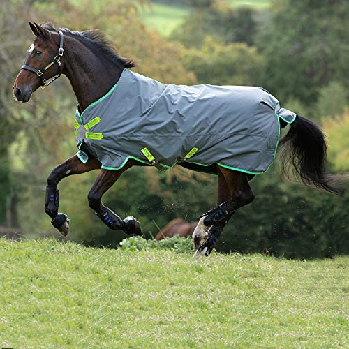 Horseware Amigo Hero 900 Lite Disc 0g Turnout Decke wasserdicht Grey/Green,Lime&Green HW 20, Größe:6'0