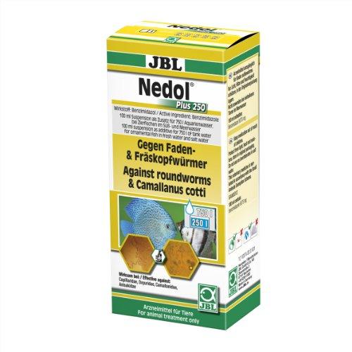 JBL Nedol Plus 250 1007400 Heilmittel gegen Faden- und Fräskopfwürmer für Aquarienfische, 100 ml