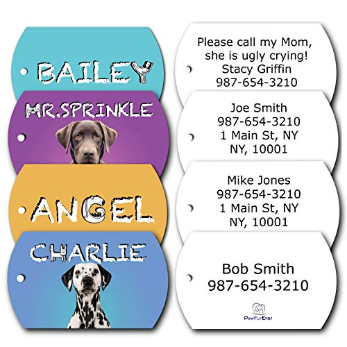PawFurEver Personalized Dog Tags for Dog Collars | Bright Dog Tags Personalized with Your Pets Photo | Ships from USA in 2-3 Days