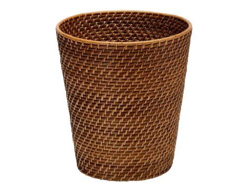 KOUBOO 1030011 Round Rattan Waste Basket 1025 x 1025 x 11 Honey Brown