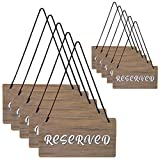 Hanging Wooden Reserved Signs (10-Pack); Reserved Signs for Church Pews,Reserved Signs for Tables,Rustic Style Wood Signs for Weddings, Special Events Hang on Chairs,Reserved Seating Signs for Chairs