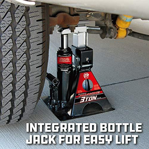 Powerbuilt Alltrade 640912 Black 3 Ton,All-in-One Bottle Jack