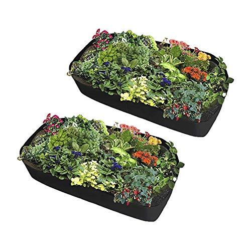 2st Tyg Upphöjd Plantering Bed Planter Tyg Trädgård Säng 40cm Hög Rektangel Växter Växa Väska, Andningsbar Garden Bed Tyg Planter Pot Planting säng för trädgård (Size : 90x180cm)