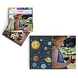 Fotoprix Puzzle Educativo Personalizado con la Foto del niño o de la niña | 5 Modelos Diferentes para coleccionar | Puzzle Infantil de 40 Piezas Grandes | Planetas (Castellano)