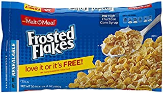 Malt-O-Meal Frosted Flakes Breakfast Cereal, 30 Ounce Breakfast Cereal Bag (Pack of 8)
