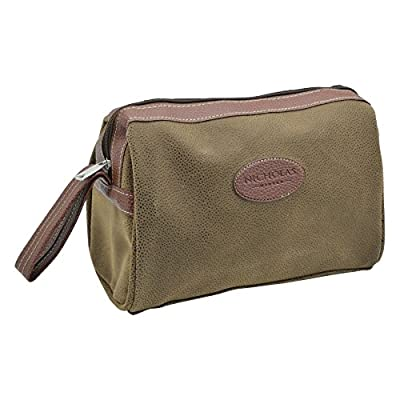 Nicholas Winter Men's Overnight Travel Wash, Shaving Toiletry Bag - 26x12x16cm