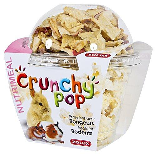 Zolux Friandises pour rongeurs Crunchy Pop Pomme 33G Pop Corn et Pomme