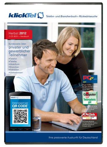 klickTel Telefon- und Branchenbuch inkl. Rückwärtssuche Herbst 2012 [import allemand]