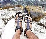 Men gladiator handmade leather sandals Greek Roman all...
