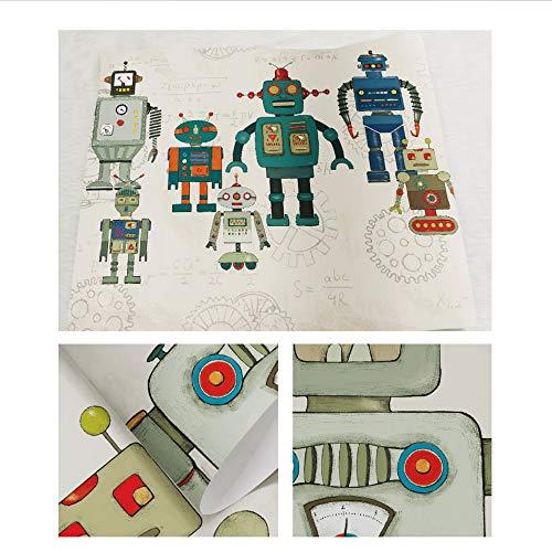 Weaeo Matemáticas Robots Personalizado 3D Mural 3D Dibujos ...