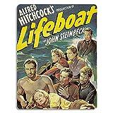 sfasf Lifeboat - Vinilo decorativo retro de metal, diseño vintage de película de yeso, para casa, casa, pared, garaje, cabina, decoración de bar, cafetería, 30,5 x 20,3 cm