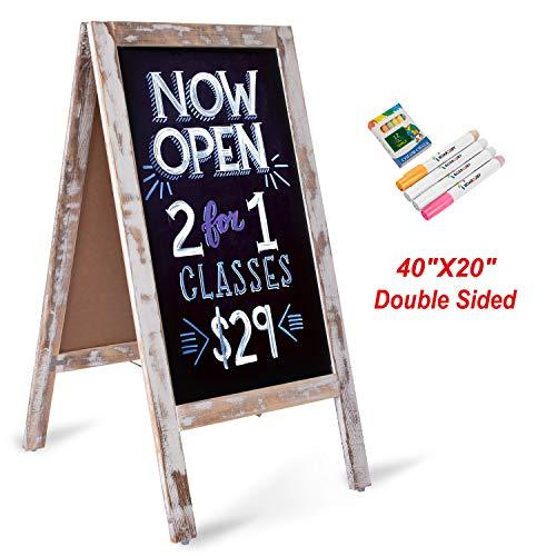 Board2by Heavy Duty A-Frame Magnetic Chalkboard Sign- 40