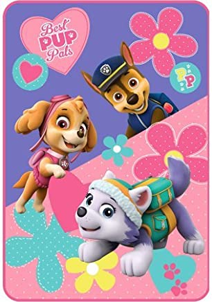 featured product Nickelodeon's Paw Patrol Girl Paw Patrol Puppy Pals 62 x 90 Plush Blanket