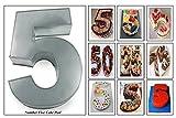 Euro Tins Numeric cake pan 35cm birthday cake tin number five 5 large 14' cake mold