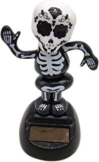 Iuhan  Solar Powered Ghost Bobble Head Toy Halloween, Kids Adults Halloween Solar Powered Dancing Ghost Swinging Animated Bobble Dancer Toy Car Decor (A)