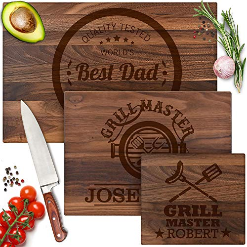 Personalized Fathers Day Grilling Gifts for Dad - 9 Premium Design Options Like Grill Father, BBQ...