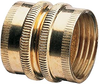 Nelson 855744-1001 Industrial Brass Pipe and Hose Fitting with Dual Swivel for Male Hose to Male Hose, Double Female