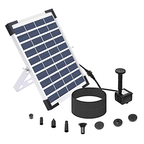 Lewisia 5W Solar Fountain Pump with Battery Backup for Patio Pool Koi Pond Bird Bath Garden Decoration Submersible Solar Powered Water Pump Kit