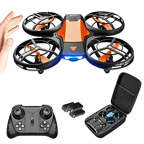 DCLINA Mini Droni per Bambini, Droni RC con Fotocamera, Mini Drone Giocattolo Volante, Drone Quadricottero con Funzione Controllo Vocale, 3 modalità Controllo, Protezione Sicurezza a 360°