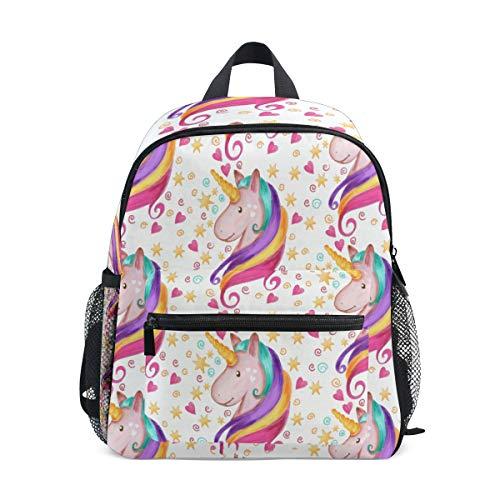 ISAOA Niño 3D caballo marrón niños mochilas Kinder preescolar niño niños/niñas mochila mochilas lindo (rosa)