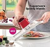 Tupperware Speedy mando cortador de alimentos, una hoja doble velocidad, Slice y almacenar en una sola vez