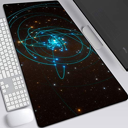 Universo Astronómico Alfombrillas De Ratón, Oficina Gaming Pad De Teclado - Base Antideslizante De Goma, Scrub Mano Sentido Aliviar La Fatiga De La Mano (Color : A, Size : 80X30X0.2CM)
