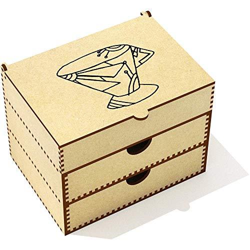 Azeeda 'Coupe Art Déco' Boîte de Maquillage (VC00013898)