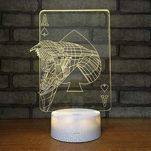 WJHXYD 3D Visuelle Illusion Lampe Ändern Nachtlichter Für Wohnkultur Schlafzimmer Acryl Led Kunst Kleiner Vogel